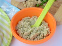 Combining the protein packed goodness of quinoa, with the simple flavors of peas and chicken, this Chicken, Peas and Quinoa puree will soon become your baby's favorite meal!