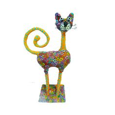 Cat sculpture for cat lover made with  polymer clay  by MIRAKRIS, $150.00