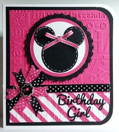 Chatterbox Creations: Birthday Niece is a BIG Two! Punch Art, Kids Punch, Disney Cards, Disney Theme, Stampin Up, Little Girls, Card Stock, Birthday Cards, Minnie Mouse