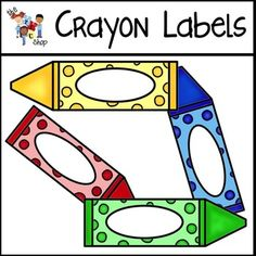 High quality color and black/white graphic included! green crayon yellow crayon red crayon blue crayon black/white crayon Personal and Commercial. Free Preschool, Preschool Printables, Preschool Rooms, Preschool Classroom, Art Classroom, Classroom Themes, Kindergarten, Toddler Classroom, Crayon Themed Classroom