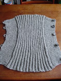 Babywearing Knitting Solution- a coat extender for cold weather.