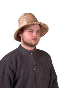 Straw hat type 3. Medieval Market, straw hat type3