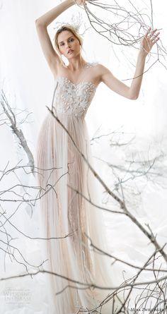 alessandra rinaudo 2017 bridal long sleeves round neck lace heavily embellished bodice drop waist elegant a  line wedding dress lace back long train (brunilde) zsdv