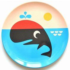 #Plate #Whale #Melamine by #Ingela walvis eetbord melamine from www.kidsdinge.com #toys #Speelgoed #Sinterklaas #Sint #Kids #worldwideshipping