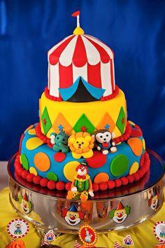 Festa, bolo, circo, palhaço, party, circus, cake, clawn