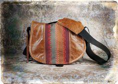 Leather Camera Bag New  -  Bohemian Stripes Tapestry Medium DSLR - IN STOCK. $140.00, via Etsy.