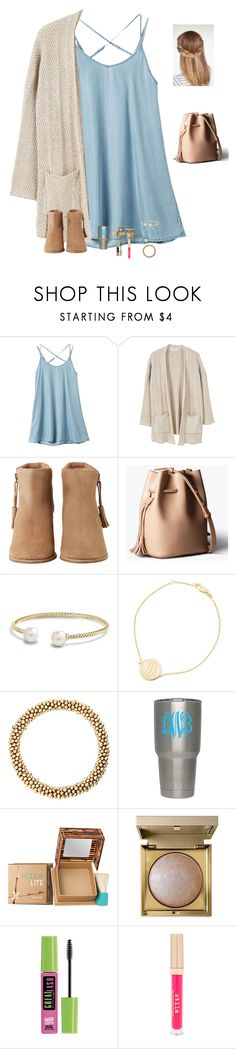 """""""I really love goldfish😻😂"""" by raquate1232 ❤ liked on Polyvore featuring RVCA, MANGO, HOWSTY, David Yurman, Sarah Chloe, Benefit, Stila and Maybelline"""