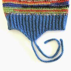 Polina Kuts: Резинка для детской шапки с ушками и завязками. Схема крючком