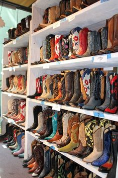 Every girl needs a good pair of cowboy boots...now if I had enough space for all of these that would be perfect.