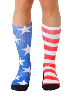Knee High Compression Socks Bicycle Blue Flag Pattern for Women and Men Sport Crew Tube Socks