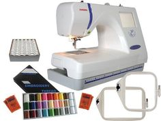 Janome 300E Combination Package: http://www.amazon.com/Janome-300E-Combination-Package/dp/B001GAFRVA/?tag=greavidesto05-20