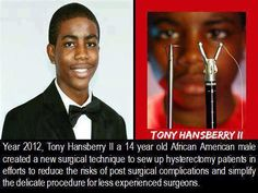 He is young and he is gifted. At the age of Tony Hansberry II certainly holds grounded status in the league of exceptional youth. Black History Facts, Black History Month, African American Inventors, By Any Means Necessary, Thing 1, African American History, American Art, Black Power, Change The World