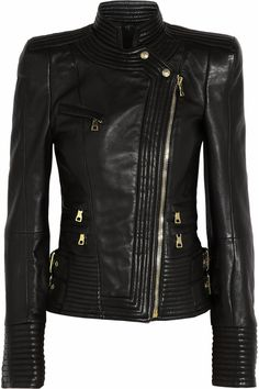 sick leather jacket Balmain. I will need another $6705 dollars. Can never have too many jackets!