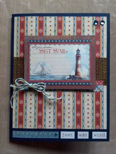 Just Add Wind Graphic 45 By the Sea CraftWithAnna handmade card