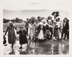 A group of children walking in the mud, refugees from the civil war area, Greece] 1948 Copyright © David Seymour/Magnum Photos Old Greek, Greek History, Photographs Of People, In Ancient Times, Magnum Photos, Cool Eyes, Greece, The Past, War