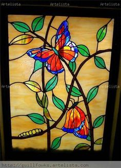 360 Best Stained Glass Butterflies Amp Dragonflies Images In 2019 Stained Glass Butterflies