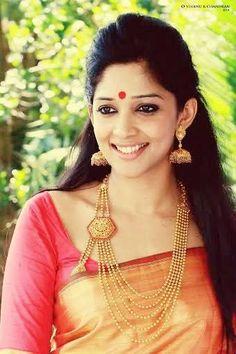 Nyla Usha in Silk Saree, Rani Haar South Indian Bride, Indian Bridal, Indian Attire, Indian Outfits, Indian Wear, Indian Style, Nyla Usha, Anarkali, Lehenga