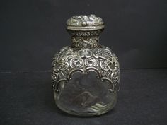 Magnificent Sterling Silver Perfume Bottle Museum Quality English hallmarks Sterling and  Crystal by AntiqueSilverShop on Etsy https://www.etsy.com/listing/124848253/magnificent-sterling-silver-perfume