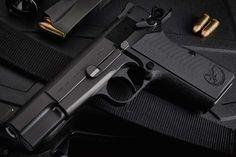 Nighthawk Custom - Browning Hi-Power Revolver, 1911 Pistol, Shooting Guns, Shooting Range, Weapons Guns, Guns And Ammo, Pocket Pistol, Custom Guns, Fire Powers