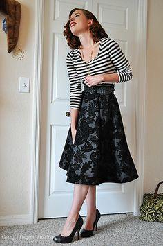 Perfect circle skirt. Horsehair braid hem. By Casey's Elegant Musings.