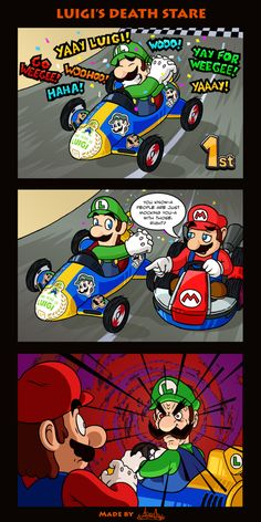 Luigi's Death Stare by The-Quill-Warrior