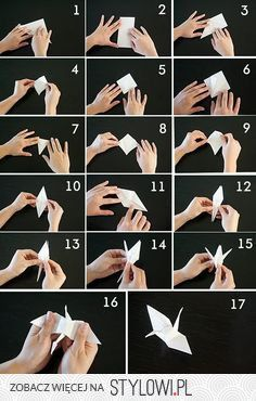 how to fold traditional Japanese origami cranes. Definitely need to hang on to this! Paper Crafts Origami, Oragami, Origami Easy, Origami Duck, Origami Butterfly, Origami Flowers, Origami Cranes, Origami Birds, Origami Dragon