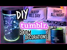 DIY Room decor | tumblr inspired - YouTube
