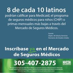 8 de cada 10 #latinos podrán calificar para un crédito fiscal, asistencia del gobierno o primas mensuales más bajas a través del Mercado de Salud. #Asegurate