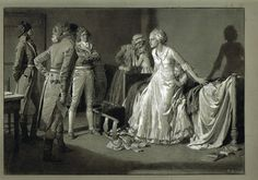 """Fortunino Matania """"Old Tales Retold: The French Revolution: Marie Antoinette"""" for Britannia & Eve, June, """"Marie Antoinette defending her Children"""", French History, European History, Louis Xvi, Versailles, French Royalty, Francis I, Maria Theresa, French Revolution, Italian Artist"""