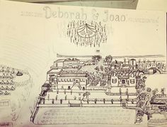 drew (from memory) this map of Kalmoesfontein for a festival wedding in December 2019. in this photo obviously a WIP Festival Wedding, How To Draw Hands, The Past, December, Memories, Map, Memoirs, Souvenirs, Location Map