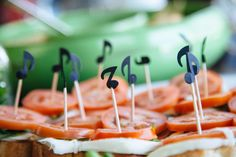 Music note toothpicks for music themed birthday party food. Party Food Themes, Birthday Party Themes, Party Ideas, Piano Recital, Baby First Birthday, Music Notes, Caramel Apples, First Birthdays, Turning