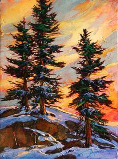 Paintings - David Langevin Artworks Inc. Impressionist Landscape, Landscape Art, Landscape Paintings, Landscapes, Paintings I Love, Nature Paintings, Tree Paintings, Watercolor Trees, Watercolour