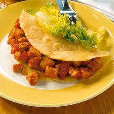 Burritos mit Hühnerfüllung