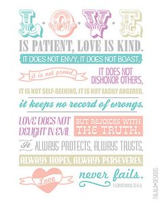 Free Corinthians Love Printable from falalalovely {also in 8 other colors}