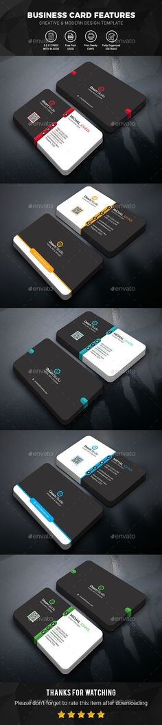 Creative & Modern Corporate Business Card Template A highly versatile business card template that is designed for both corporate business and personal usage.