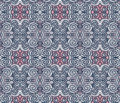 Pink is the Navy Blue of India fabric by susaninparis on Spoonflower - custom fabric