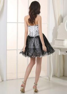 Buy discount Chic Tulle & Satin Sweetheart Neckline A-Line Homecoming Dresses at dressilyme.com
