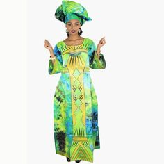 African Clothing For Women Lady Bazin Riche Embroidery Long Dress with Scarf African Dresses For Women, African Women, Scarf Sale, African Dashiki, African Children, Scarf Dress, Embroidered Clothes, Embroidery Dress, Traditional Outfits