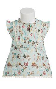 Wrangler All Around Baby Girls Aqua with Western Print Cap Sleeve Tunic   Cavender's