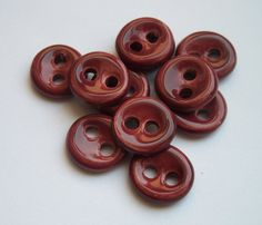 Dark Cherry Ceramic buttons by buttonalia on Etsy, $22.00