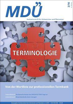 """Fachzeitschrift MDÜ - Ausgabe 2016-2 """"Terminologie"""""""