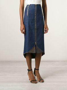 Christian Dior Vintage Midi Denim Skirt - House Of Liza - Farfetch.com