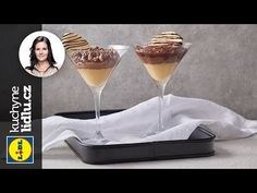 Dezert a lá špička - Markéta Krajčovičová - RECEPTY KUCHYNE LIDLU - YouTube Lidl, Martini, Tableware, Glass, Kitchen, Youtube, Cuisine, Dinnerware, Drinkware