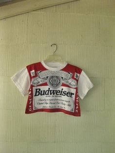 VINTAGE Budweiser t-shirt crop top 80s beer Americana. $62.00, via Etsy. -- i thought this was a baby shirt.  that's the only reason i pinned it.  i'm kind of disappointed now.