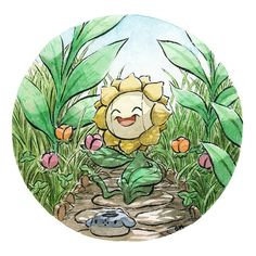 Does anyone remember this cute little pokemon? Sunflora?? This is such a cute little grass pokemon from gen 2!