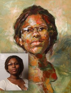 """Commission a custom portrait from your photograph.  8"""" x 10"""" or 11"""" x 14"""" oil on panel, $300.00."""