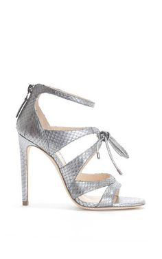 5681e7e0ea9e Bryonia Silver Watersnake Sandal by Chloe Gosselin for Preorder on Moda  Operandi Dressy Sandals