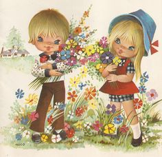 """The Birthday Flowers"", Sandle's, undated. Illustration by Nuco, (Spain)."