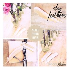 clay feathers diy