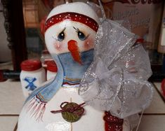 I LOVE WHIMSICAL SWEET HAPPY FACES AND WARM EYES by GourdsByDiane Hand Painted Gourds, Happy Faces, Mrs Claus, Painted Books, A Pumpkin, Bird Houses, Snow Globes, Whimsical, Etsy Seller